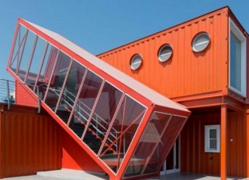 Port shipping container office