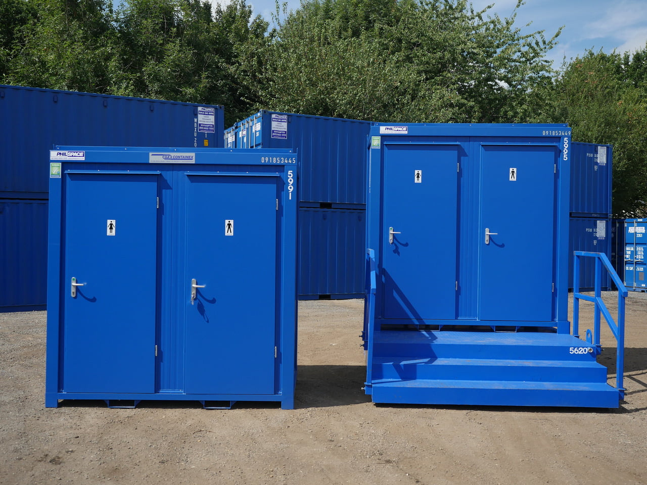 Philspace toilet block and shower cubicles