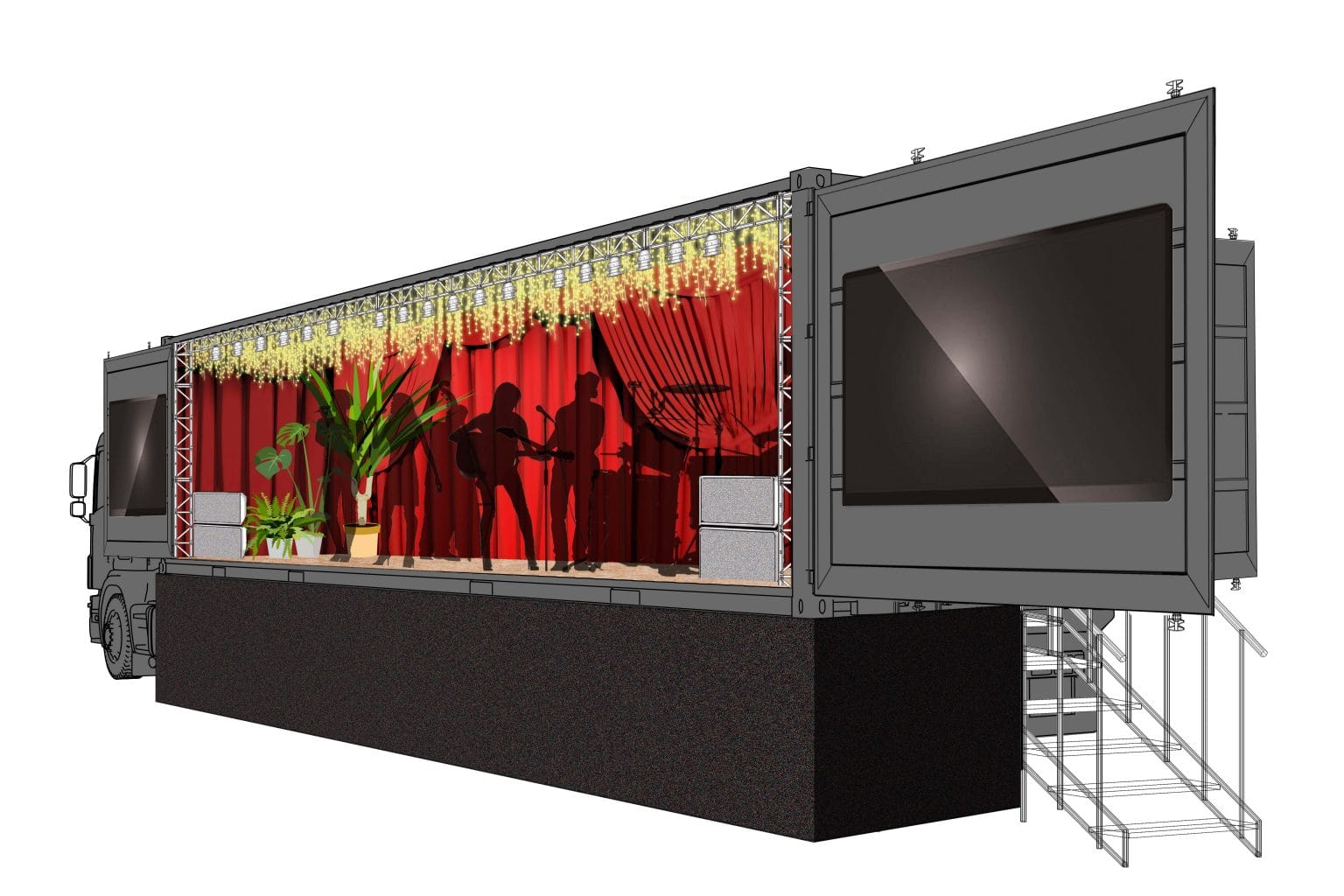 Shipping container bandstand