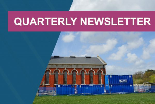 Quarterly newsletter header for June - summer
