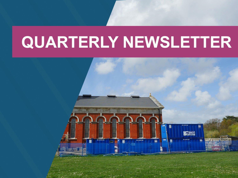 Quarterly newsletter header for June - summer