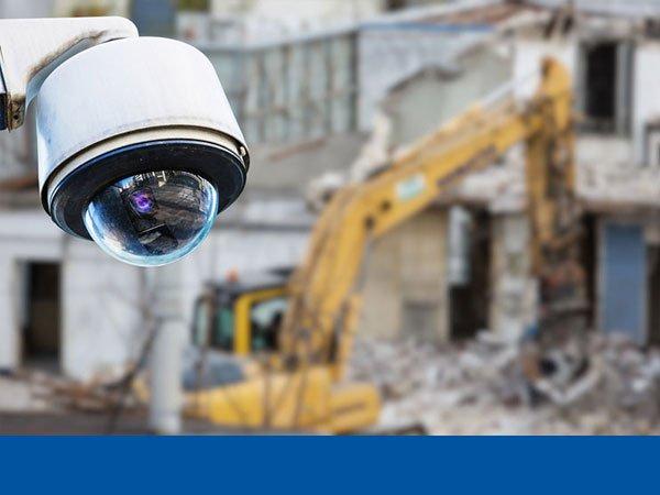 CCTV camera at a construction site