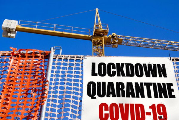 Construction sites were closed during the first UK lockdown